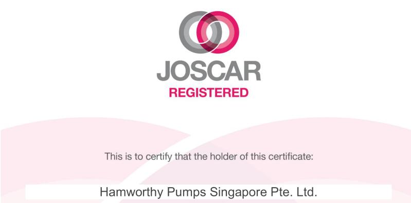 We're JOSCAR Registered!